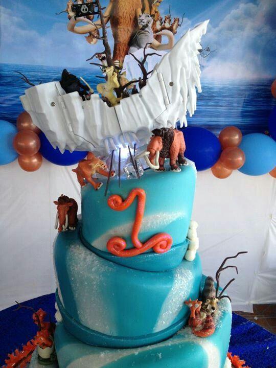 awesome ice age continental drift cake  cake birthday