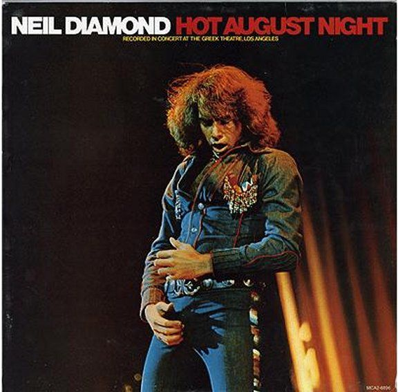 Neil Diamond S Hot August Night Artwork Has Been On Display At The Contemporary Jewish Museum In San Francisco Neil Diamond Album Covers Album Cover Art