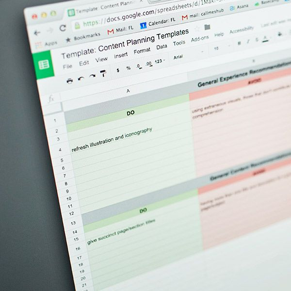 Content Planning Starter Kit for just $28 from Sidecar Starter kit - google docs spreadsheet