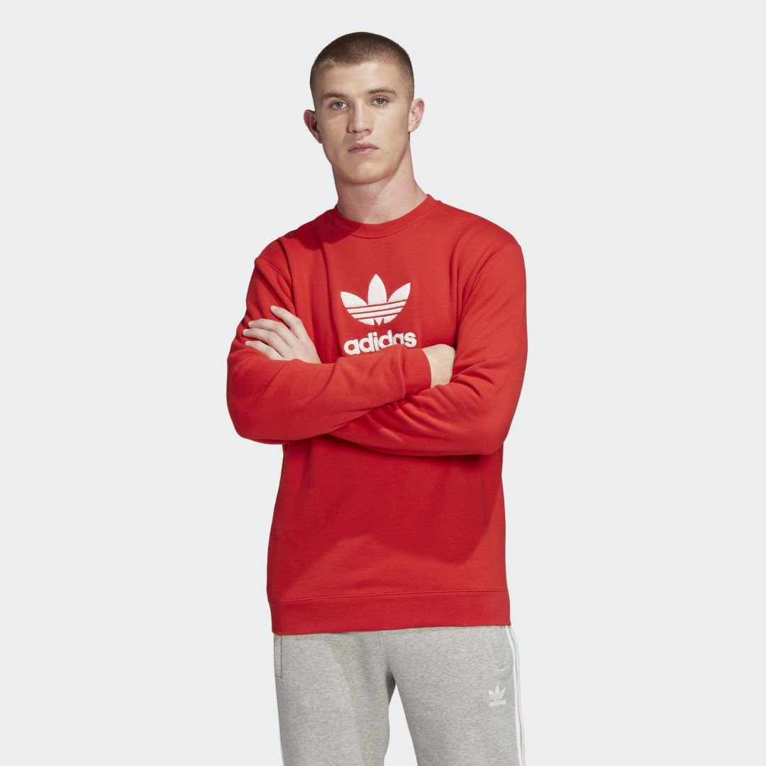 Photo of Premium Crew Sweatshirt Red Herren