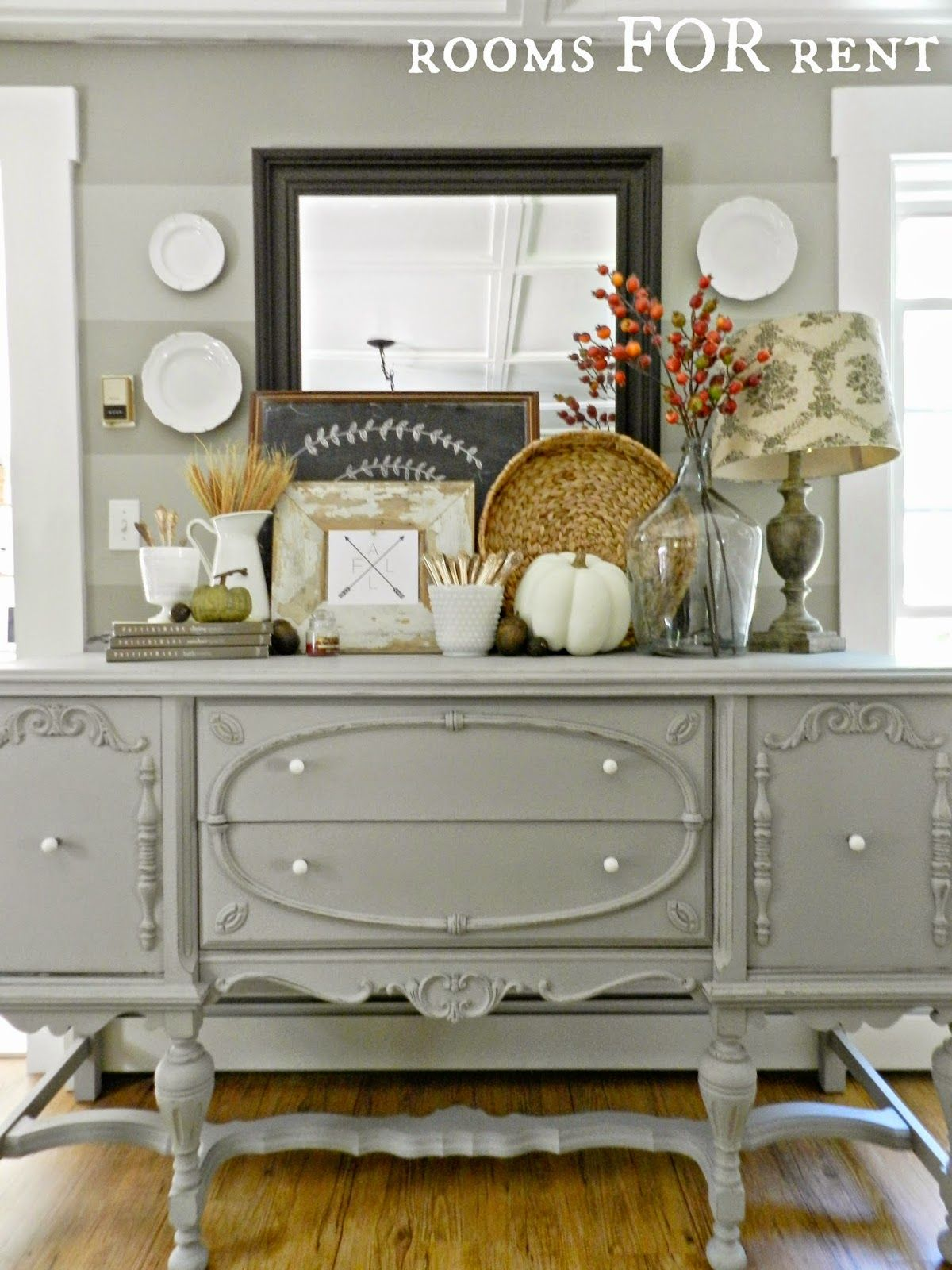 Gorgeous Buffet Makeover Staged For Fall From Rooms Rent