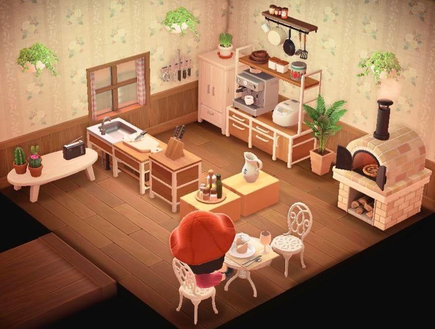 my kitchen so far! : AnimalCrossing in 2020 | Animal ... on Animal Crossing Kitchen Island  id=83080