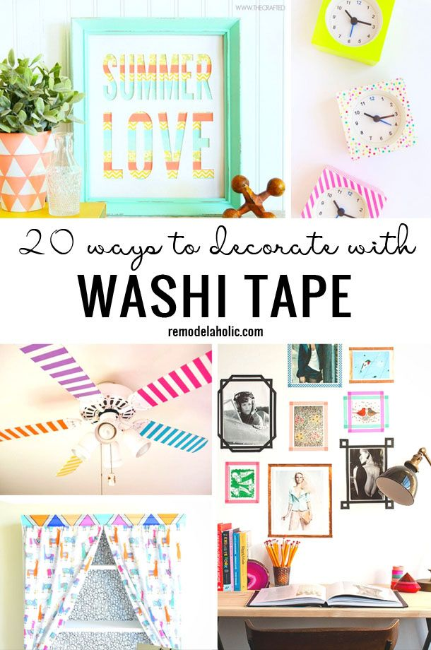 Washi tape is so versatile and comes in so many colors and patterns. It is the perfect way to customize your home with these 20 Ways To Decorate With Washi Tape via Remodelaholic.com