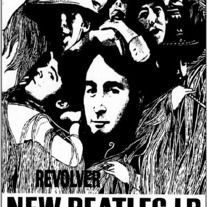 Rare Beatles Promo Poster 23 1 2 X 33 UK Import 1966 REVOLVER Album OOP Rolled Record Store For The Revolver
