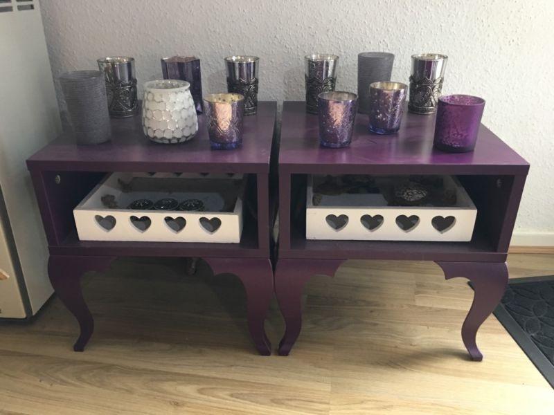 Ich Verkaufe 2x Ikea Trollsta Nachttisch Kleiner Tisch Lila  Beistelltischeu003cbr /u003eu003cbr