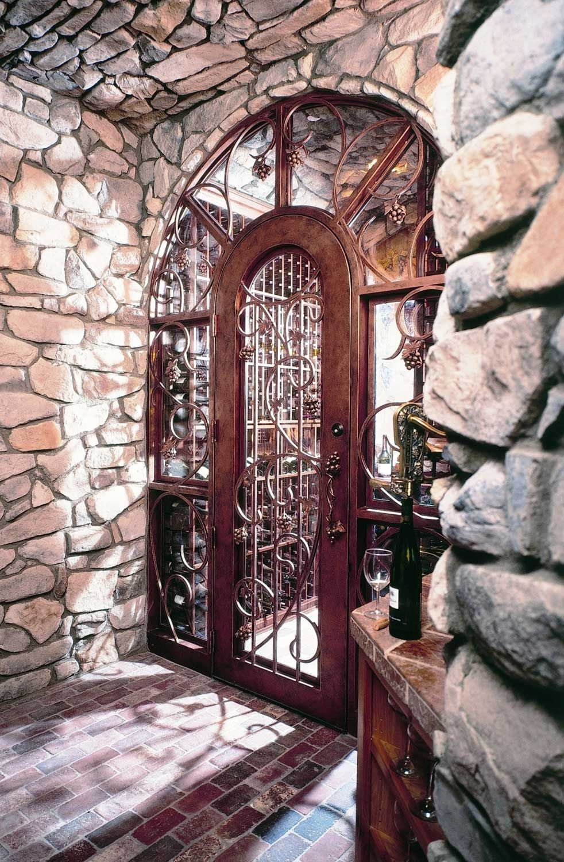 Wrought iron wine cellar doors hd images wallpaper for downloads