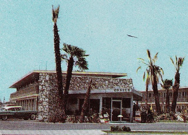 candy cane inn photos   Candy Cane Motel Office Anaheim 1950s