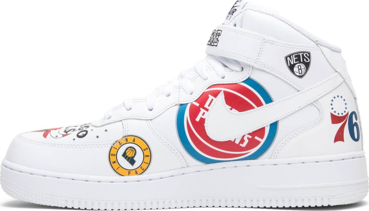 Supreme x NBA x Air Force 1 Mid 07 'White' | Stage Outfits