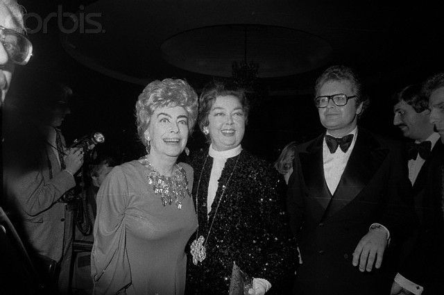 Joan Crawford And Rosalind Russell This Was Crawfords Last Public