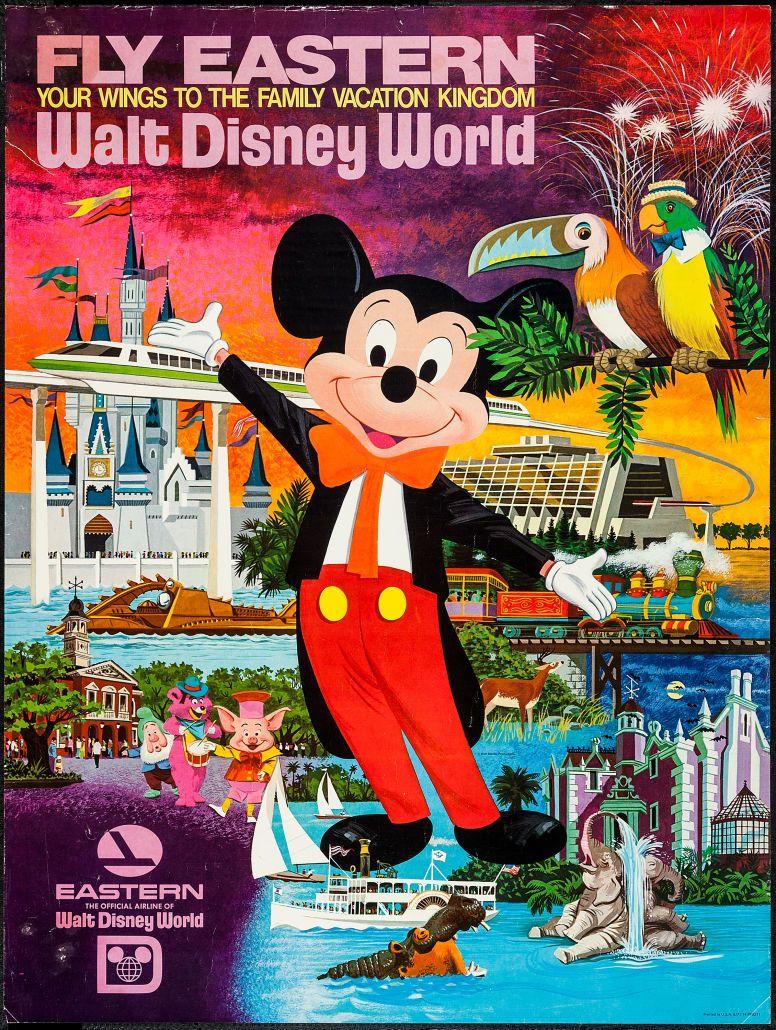 Movie PostersMiscellaneous, Fly Eastern to Walt Disney