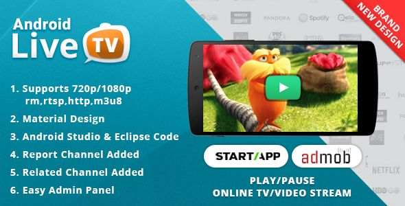 Download Android Live TV with Material Design | tv | Material design