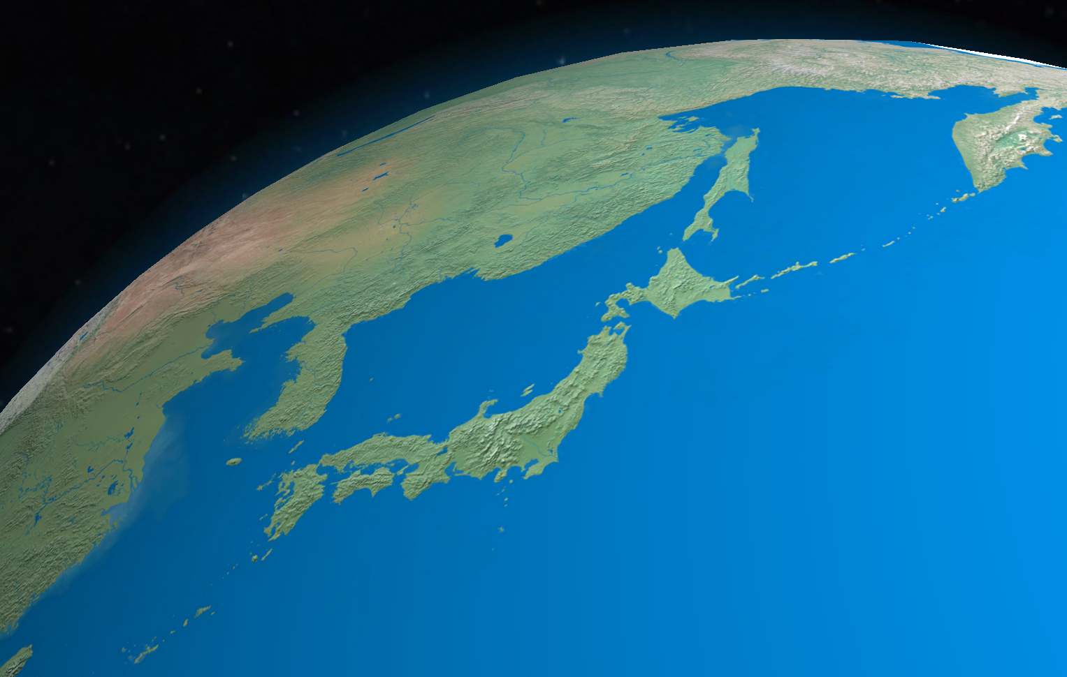 Japan from space | Earth from space - Globe Master 3D | Earth from