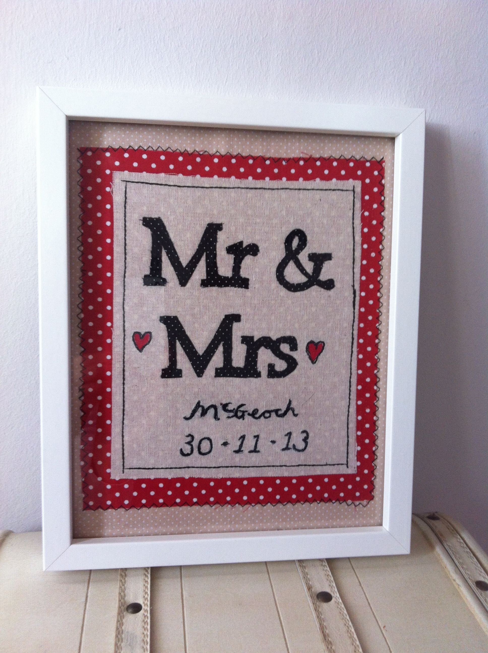 Diy Wedding Present Personalised Wedding Present Sewing Gifts Mr