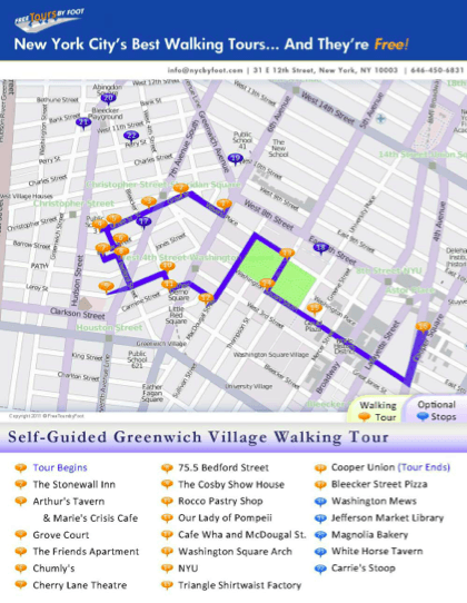 This free self guided greenwich village walking tour complete nyc tips this free self guided greenwich village walking tour complete with a map and legend can also be used as a guide on our regularly scheduled sciox Choice Image