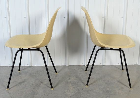 Eames Shell Chair Herman Miller Pair of by HearthsideHome on Etsy