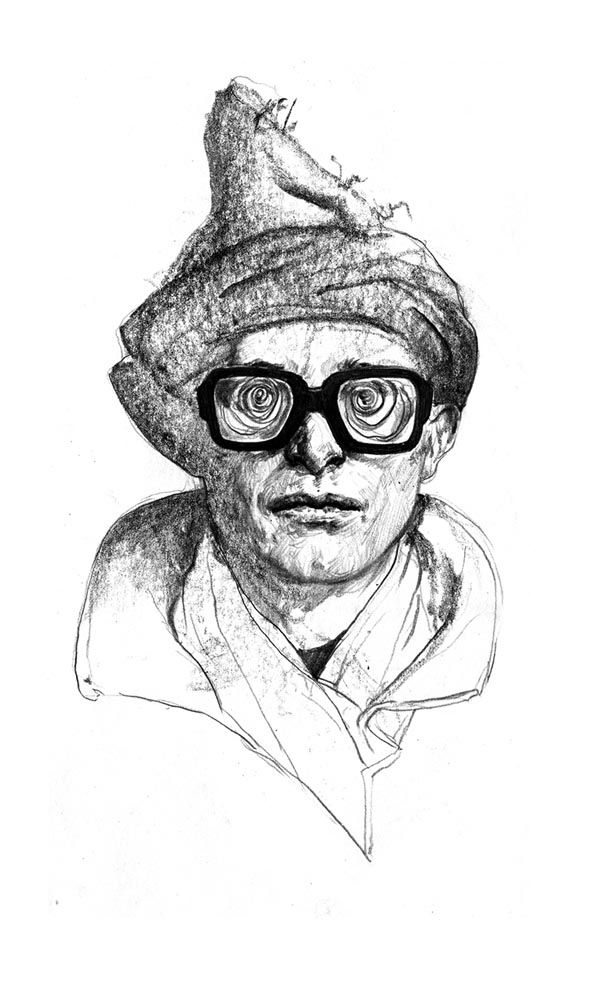 Alan Parker Portrait aka Simon Munnery - Urban Warrior by Rupert Smissen