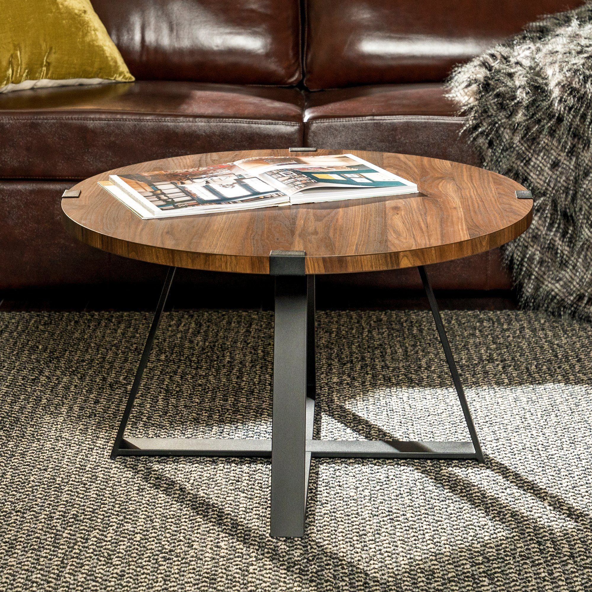 Rustic Round Coffee Table Dark Walnut Black In 2020 Living Room Accent Tables Coffee Table Wood Coffee Table Rustic [ 2000 x 2000 Pixel ]