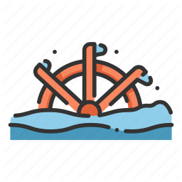 Architecture Nature Power Water Wheel Icon Icon Cute Icons All Icon
