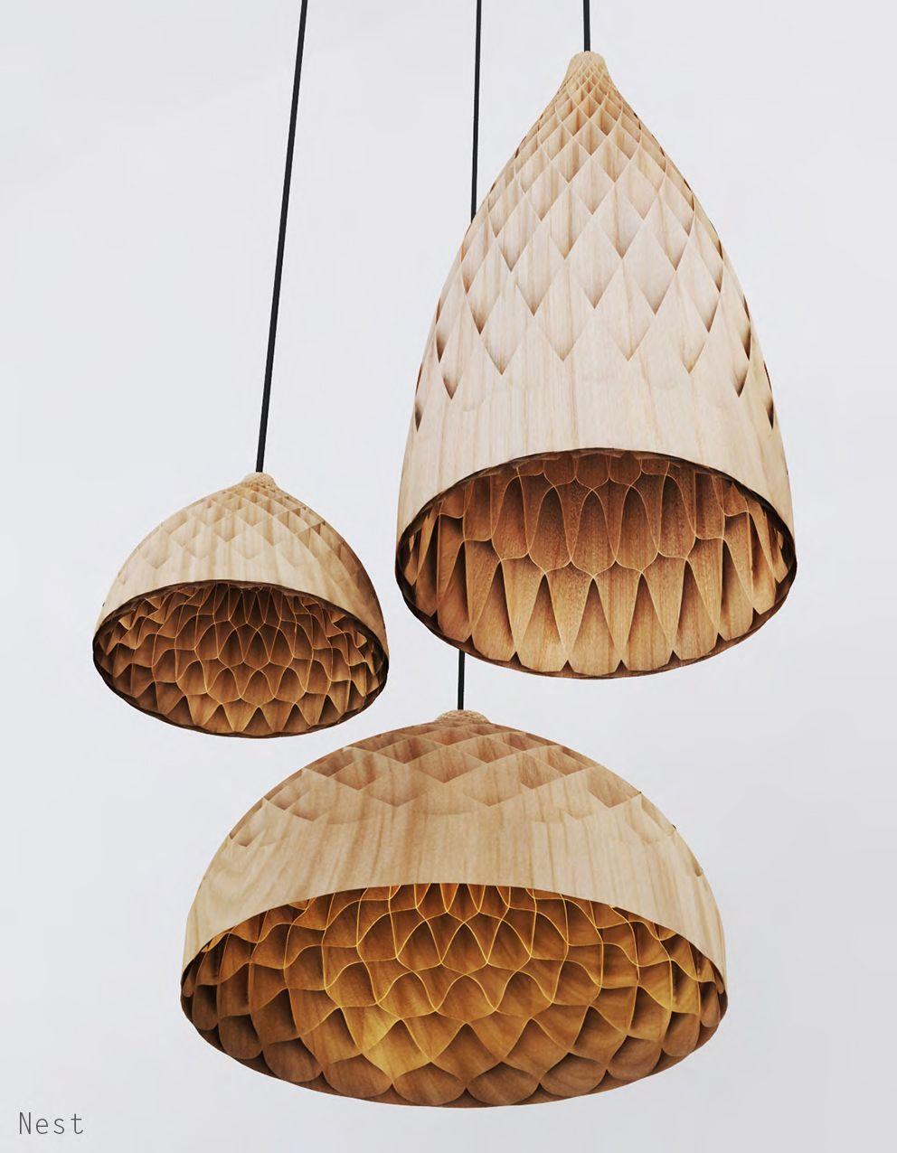 Edward Linacre's Beautiful Honeycomb Nest Lamp Packs Flat to Ship - Edward Linacre's Beautiful Honeycomb Nest Lamp Packs Flat To Ship