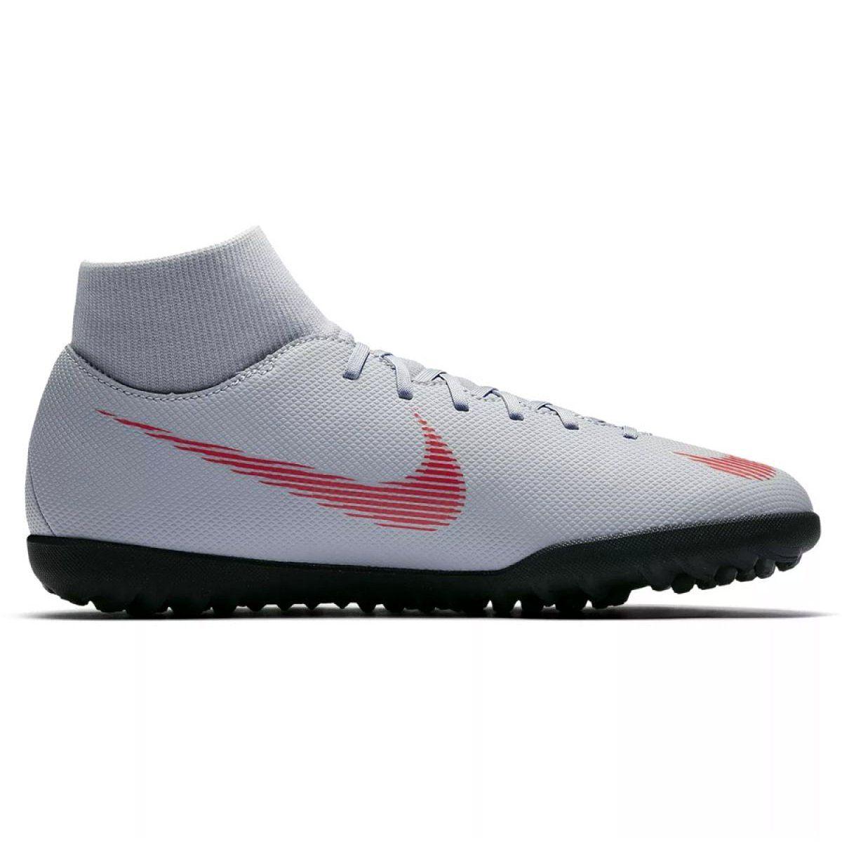 Buty Pilkarskie Nike Mercurial Superflyx 6 Club Tf M Ah7372 060 Szare Szare Football Shoes Nike Football Boots