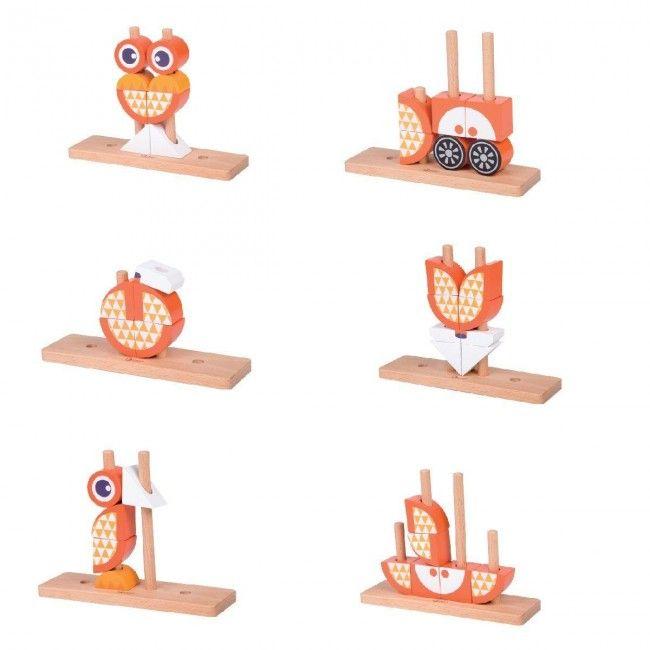 Flippy fox construction en bois multilingue for Construction xylophone bois