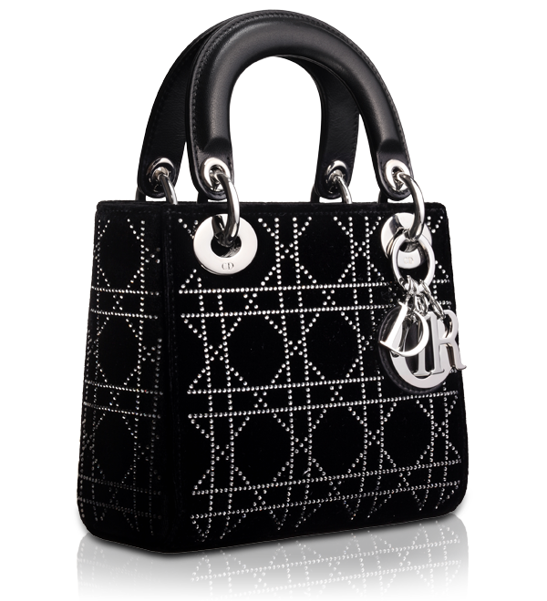 LADY DIOR - Velvet and black leather  Lady Dior  bag  e66a6cecc2017