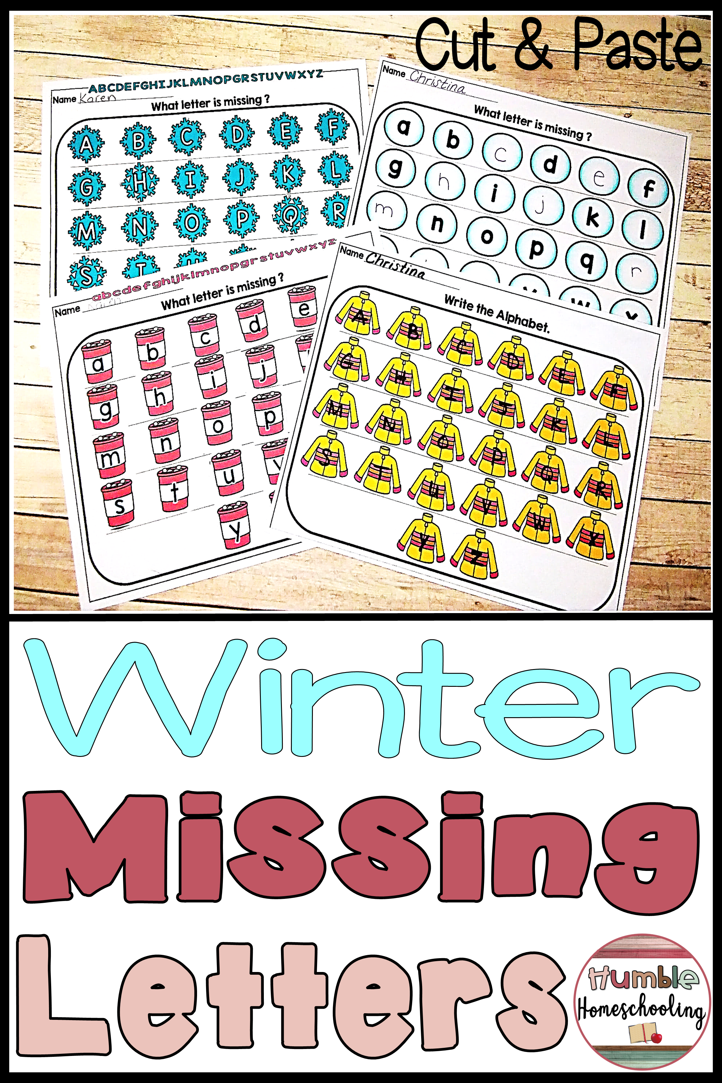 Missing Letters Winter