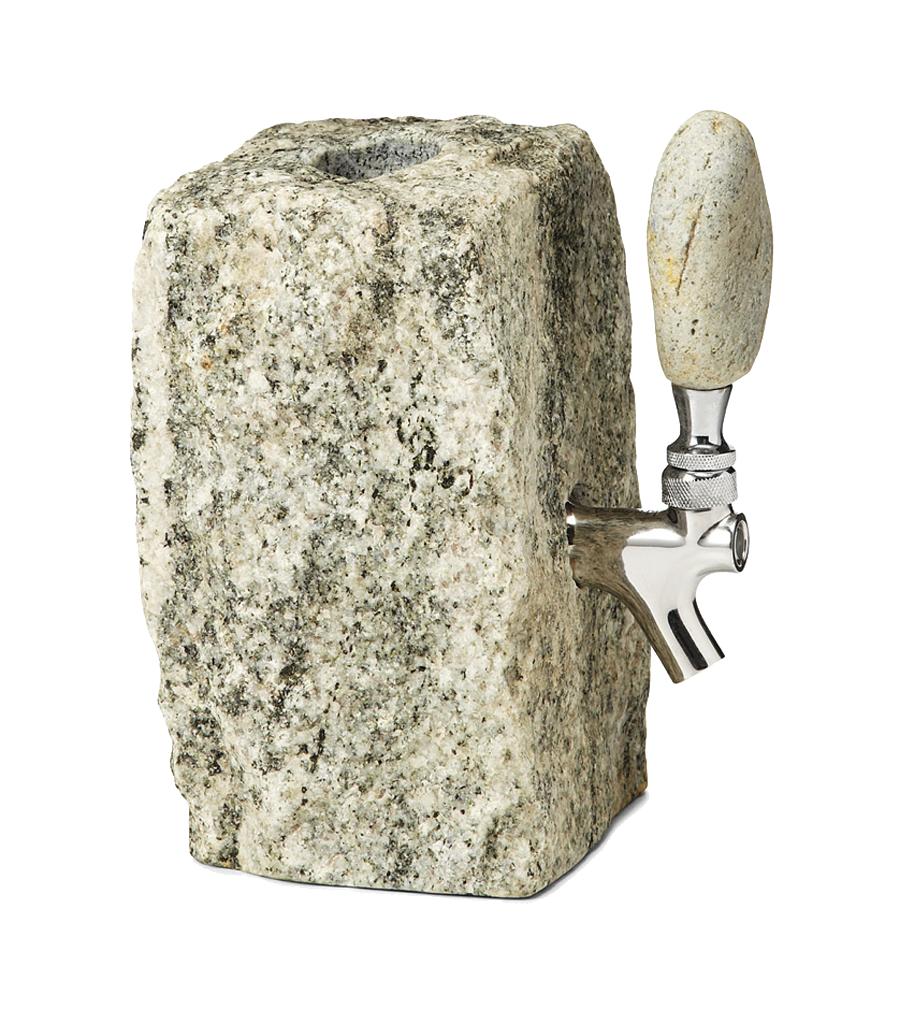 Stone whiskey dispenser