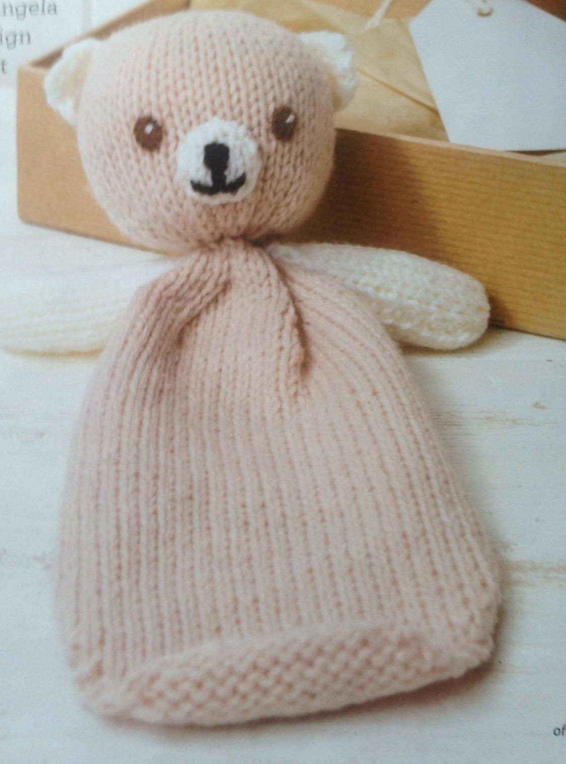 Teddy Bear Knitting Pattern Teddy Comforter Instant Down load ...