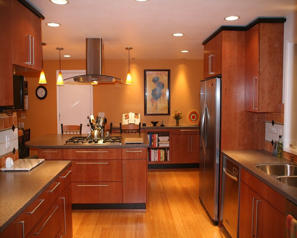 Bamboo Flooring Kitchen With Amazing Lighting    Http://kaamz.com/