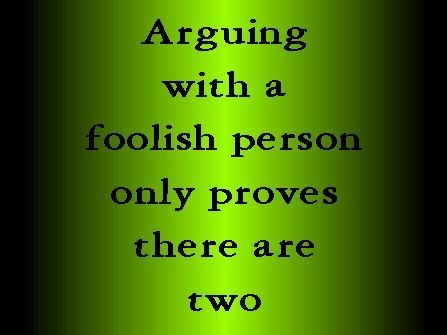 Dont Answer The Foolish Arguments Of Fools Or You Will Become As