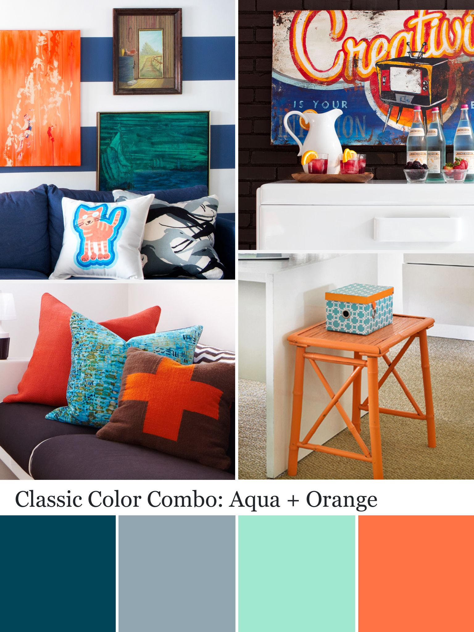 Orange And Aqua: Aqua Color Palette - Aqua Color Schemes