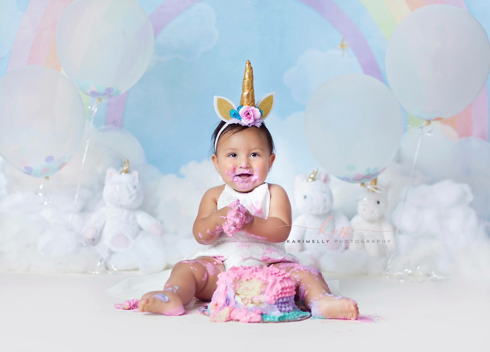 Unicorn Cake Smash Photo Unicorn Cake Smash Session Karimelly
