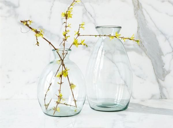 Artisanal Vase Small Large Glass Vase Small Glass Vases Recycled Glass Vases