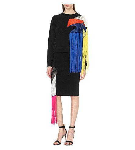 CHRISTOPHER KANE Fringe-detailed skirt. www.italianist.com