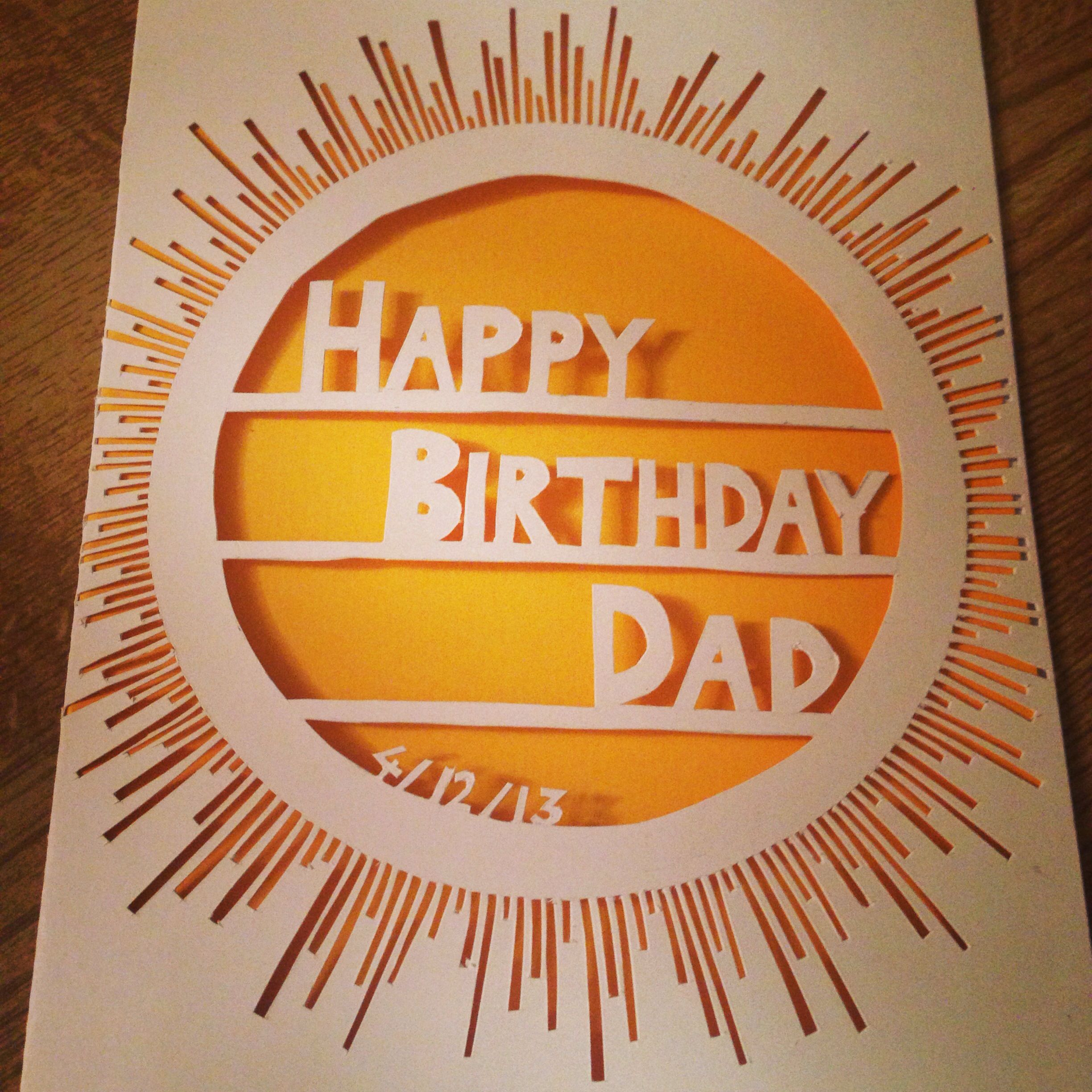 Dads birthday card | Art Ideas | Pinterest | Dad birthday ...