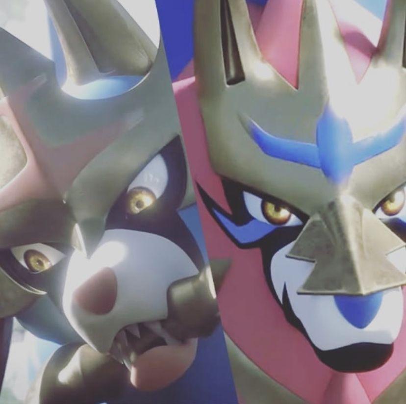 Zamazenta Crowned Shield Form Zacian Crowned Sword Form Pokemon Sword Shield