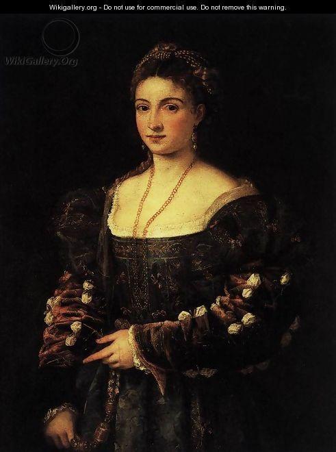 La Bella Tiziano Vecellio Titian Wikigallery Org The Largest Gallery In The World Renaissance Portraits Portrait Renaissance Paintings