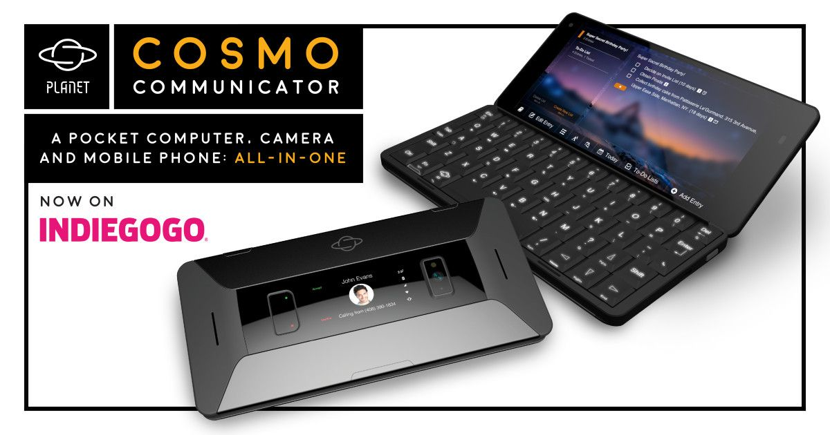 New crowd-funded phone from Planet Computers - Cosmo Communicator