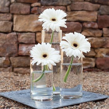 Table Centerpieces Glass Cylinder Vase With Candle With Images