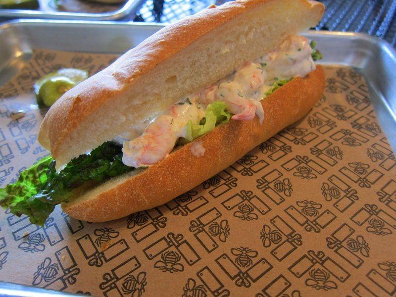 Shrimp Sandwich at Butcher & Bee, 654 King Street, Charleston, SC www.eatkingstreet.com