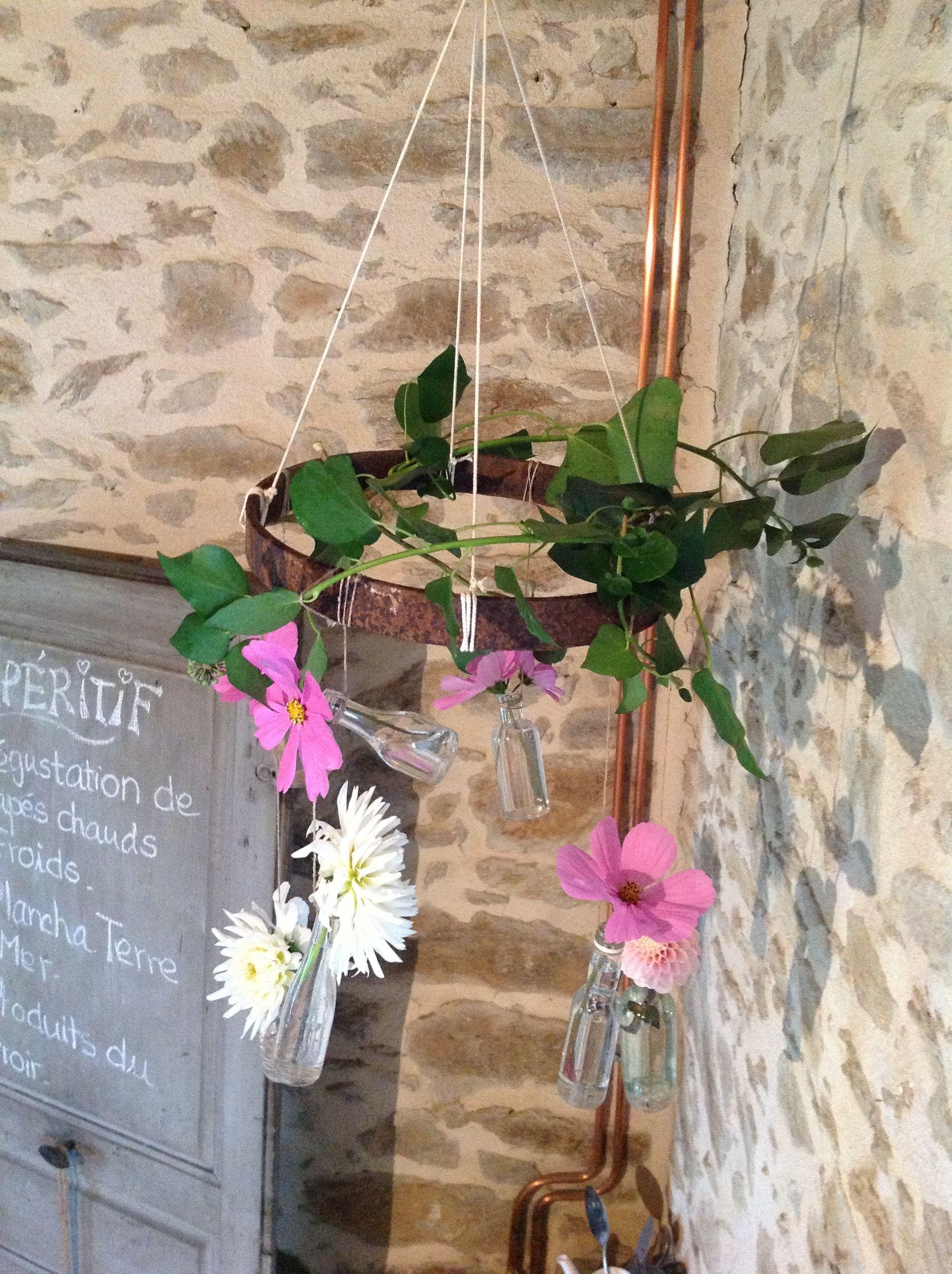 Fleurs suspendues made by me :-)