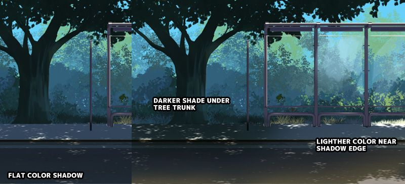 Adding shadow to your anime background art anime