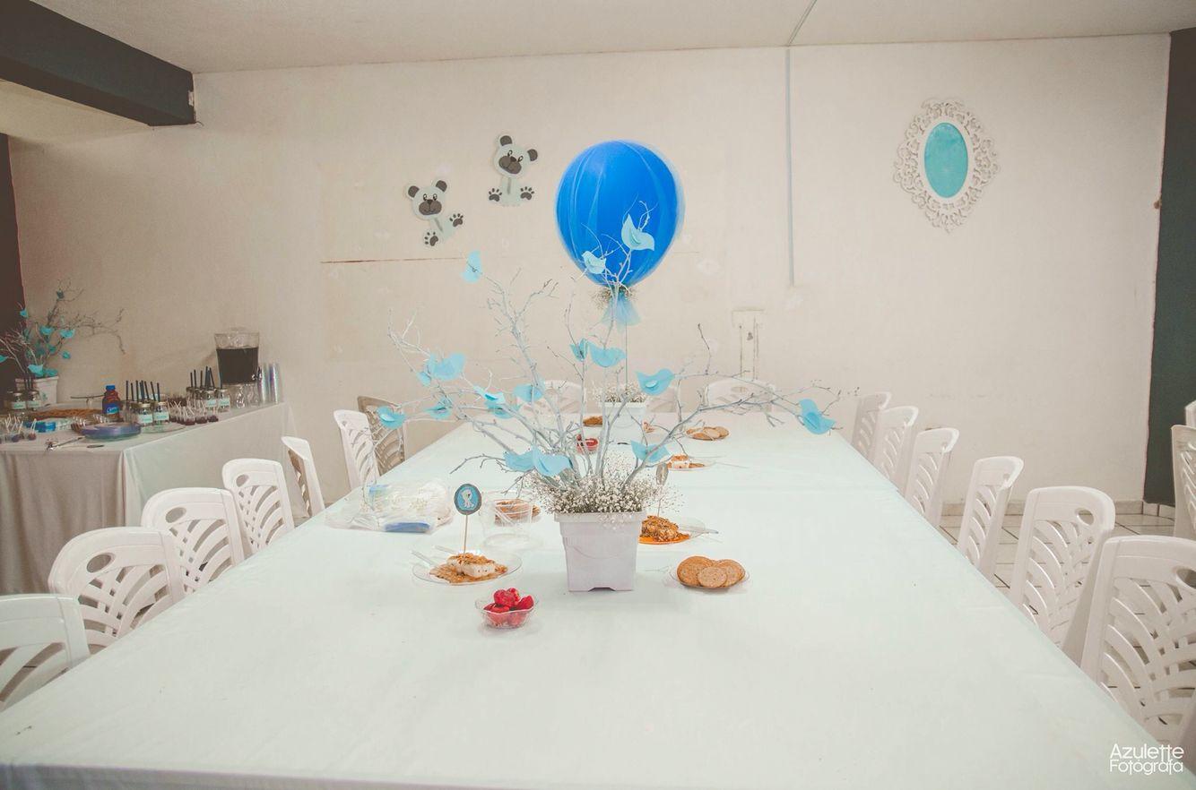 Decoración de Baby shower con globos