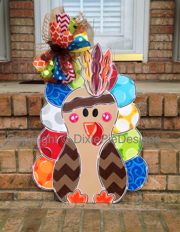Turkey Door Hanger Thanksgiving Door Hanger Fall Door