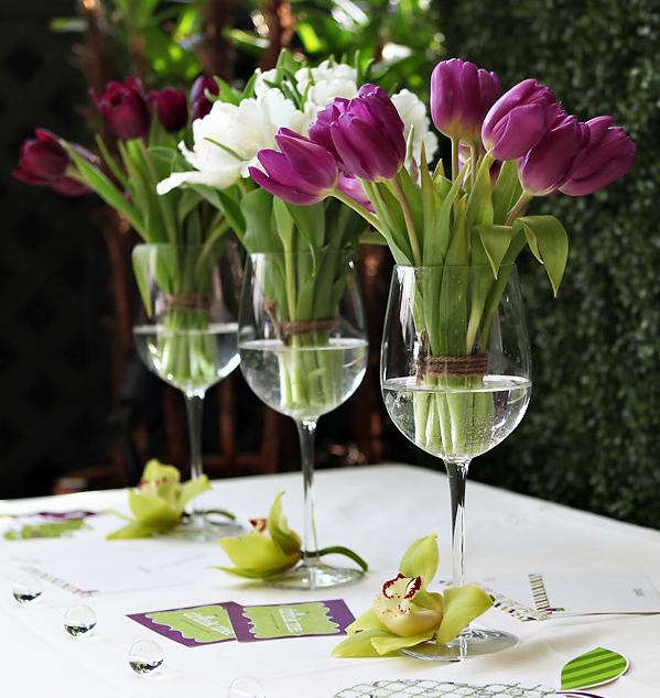 ideas de centros de mesas sin floreros