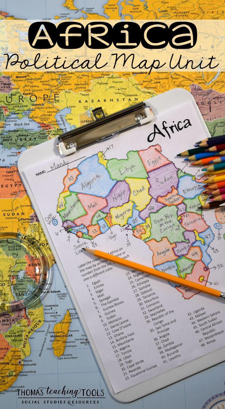 africa map study tool
