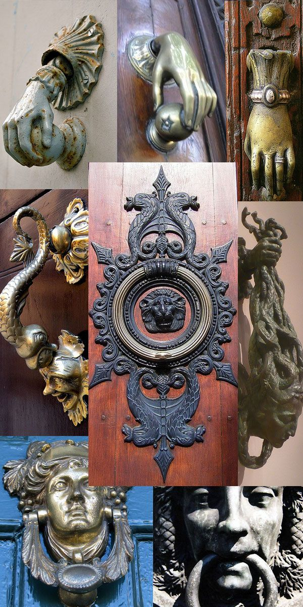 european entry door knockers and knobs - Google Search