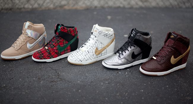 "reputable site 4bd90 f8c1a Nike Dunk Sky High ""City Series Pack"" Nike Wedge Sneakers, Nike Sky Hi"