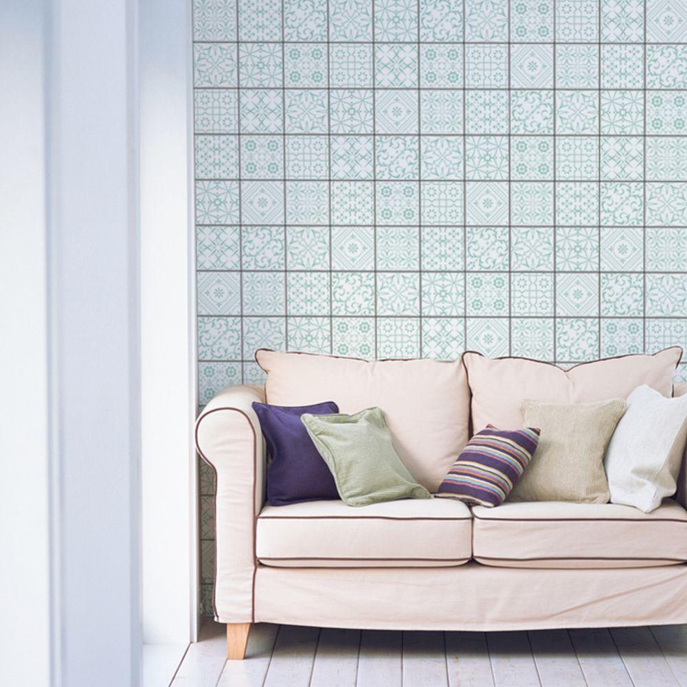 fliesenspiegel t rkise ornamente fliesen berkleben. Black Bedroom Furniture Sets. Home Design Ideas